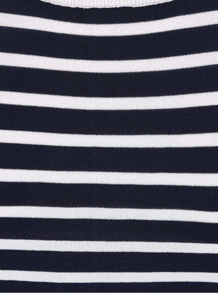 Bílo-modrý pruhovaný svetr French Connection Cass