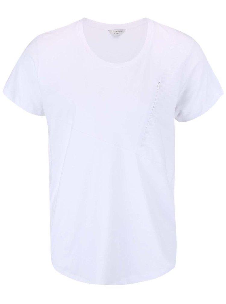Biele tričko s vreckom Jack & Jones Align