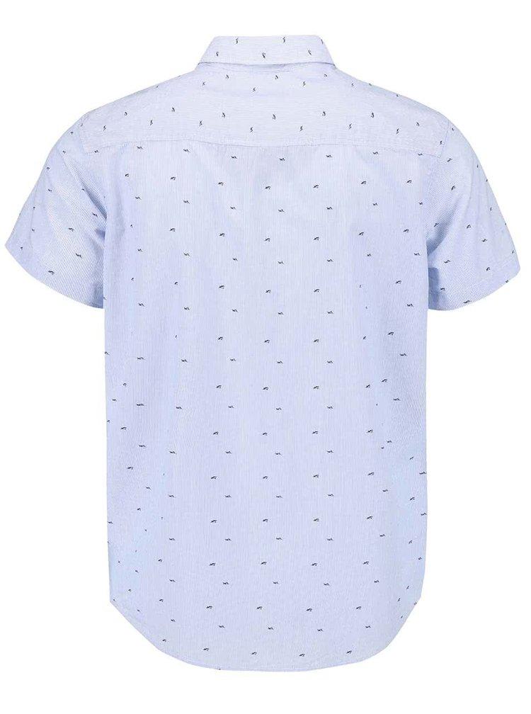 Modrá vzorovaná košile s krátkým rukávem Jack & Jones Shark