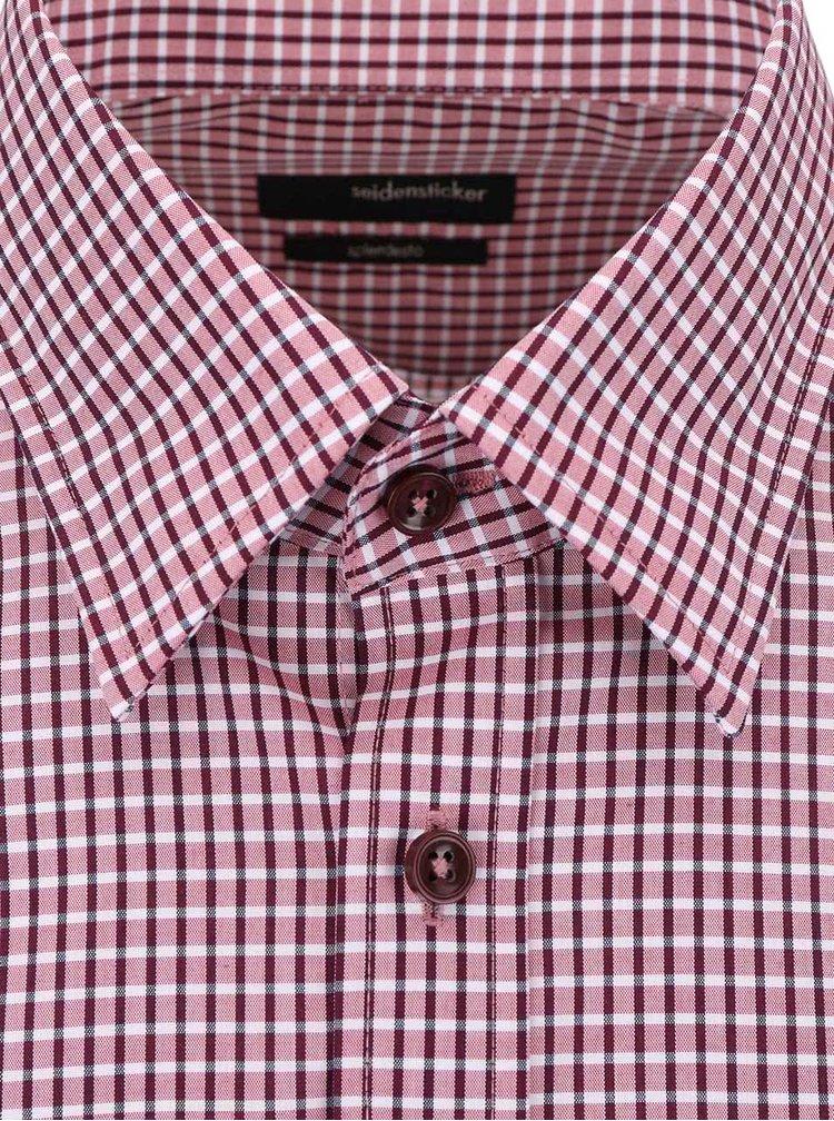 Vínová károvaná košile Seidensticker Covered BD