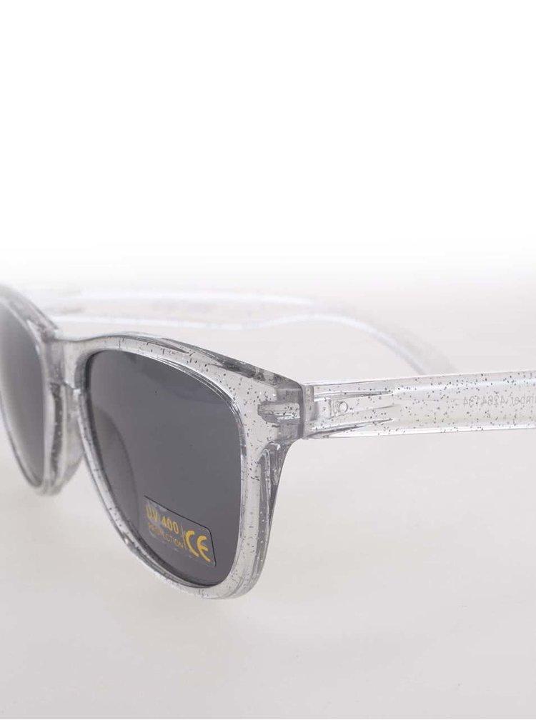 Transparentní sluneční brýle ve stříbrné barvě Pieces Vibba