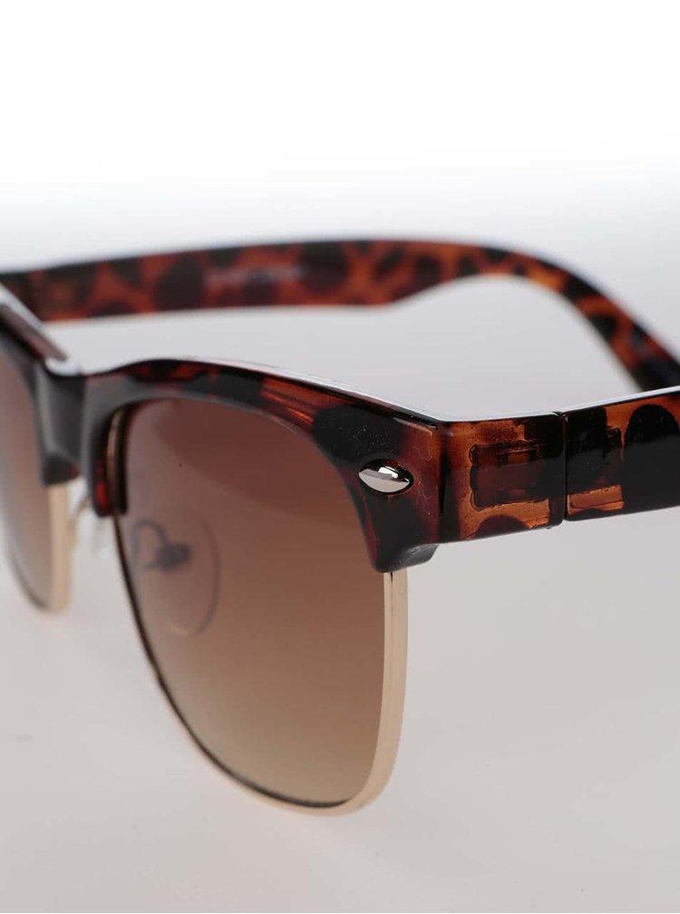 Černo-hnědé želvovinové sluneční brýle Pieces Vibba