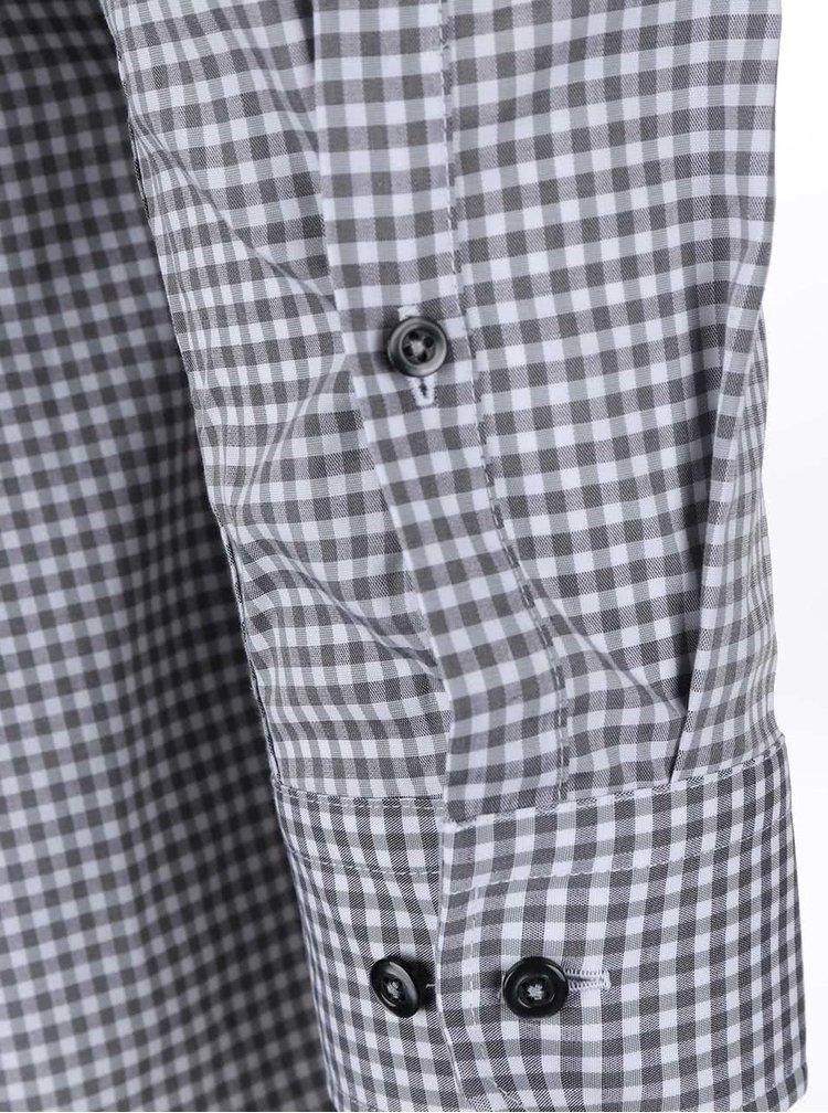 Sivá kockovaná košeľa Seidensticker Shark Patch Slim Fit