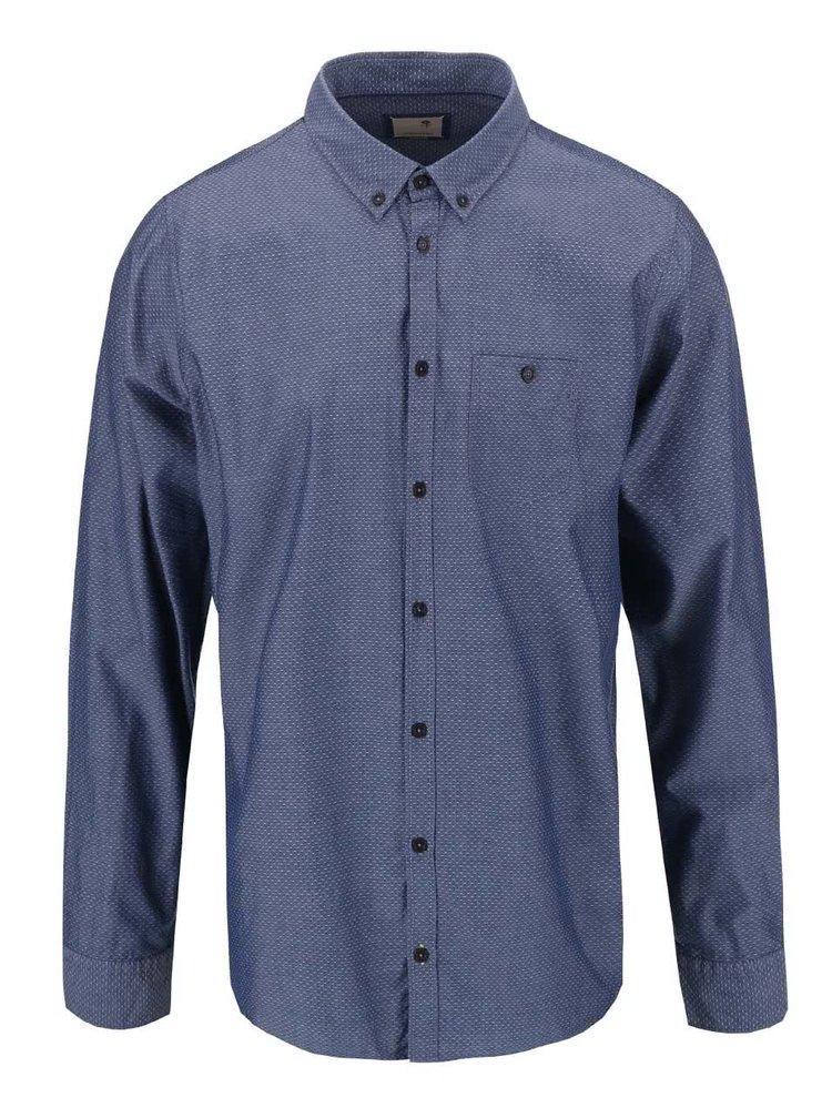Modrá košile s drobným vzorem Seidensticker Bobby BD Plain Slim Fit