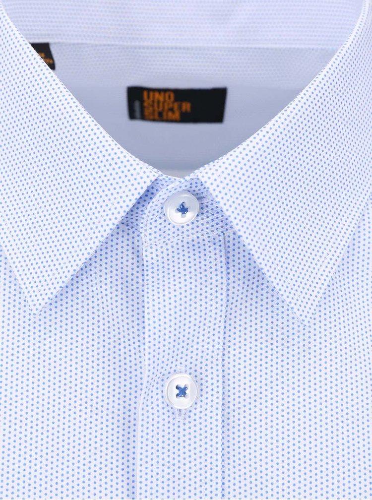 Modro-bílá puntíkovaná košile Seidensticker Kent Uno Super Slim