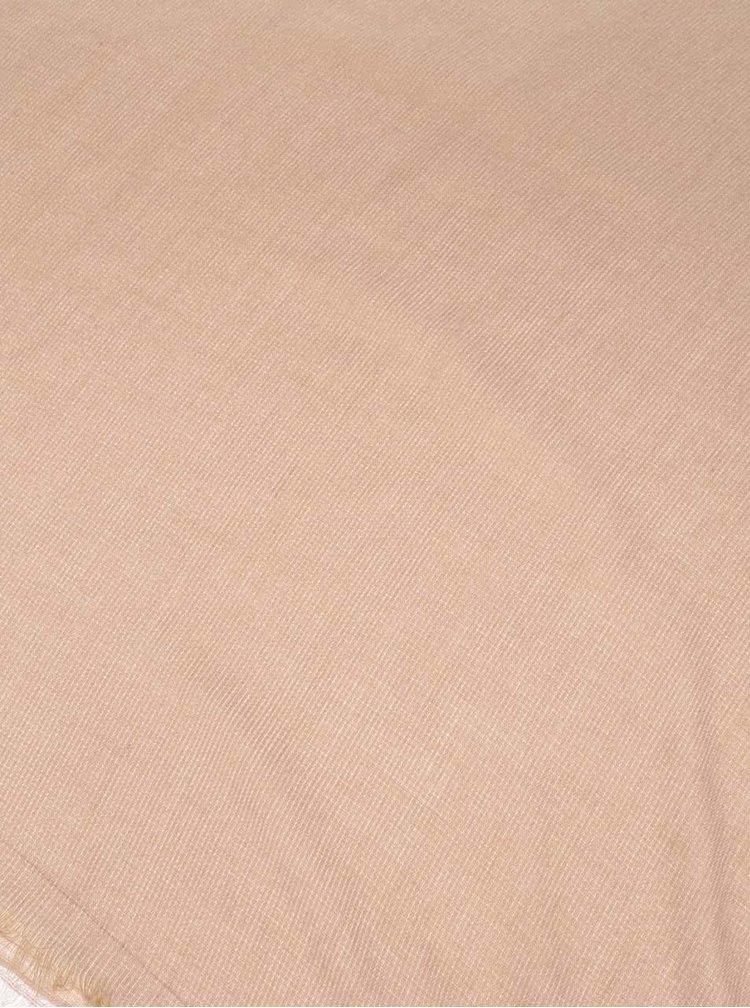 Béžový šátek Pieces Jala