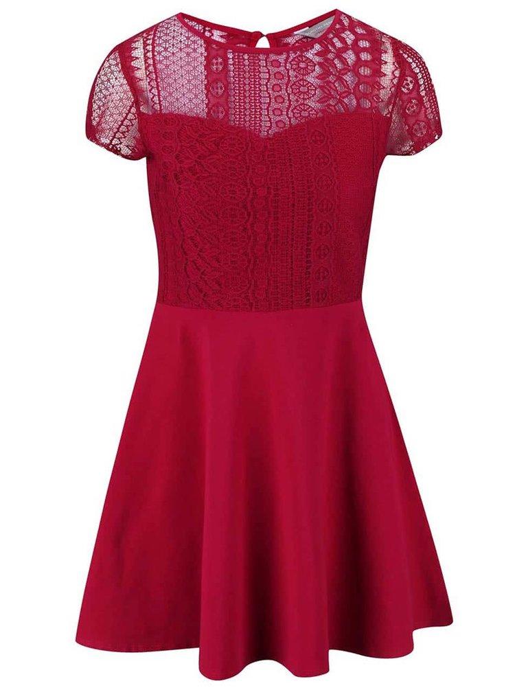 Rochie Dorothy Perkins Petite roz din dantelă