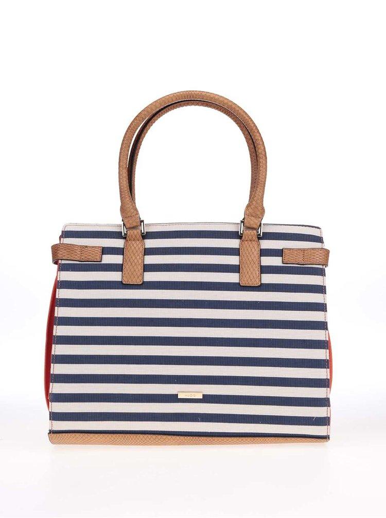 Korálová kabelka s bílo-modrými pruhy ALDO Goldtooth