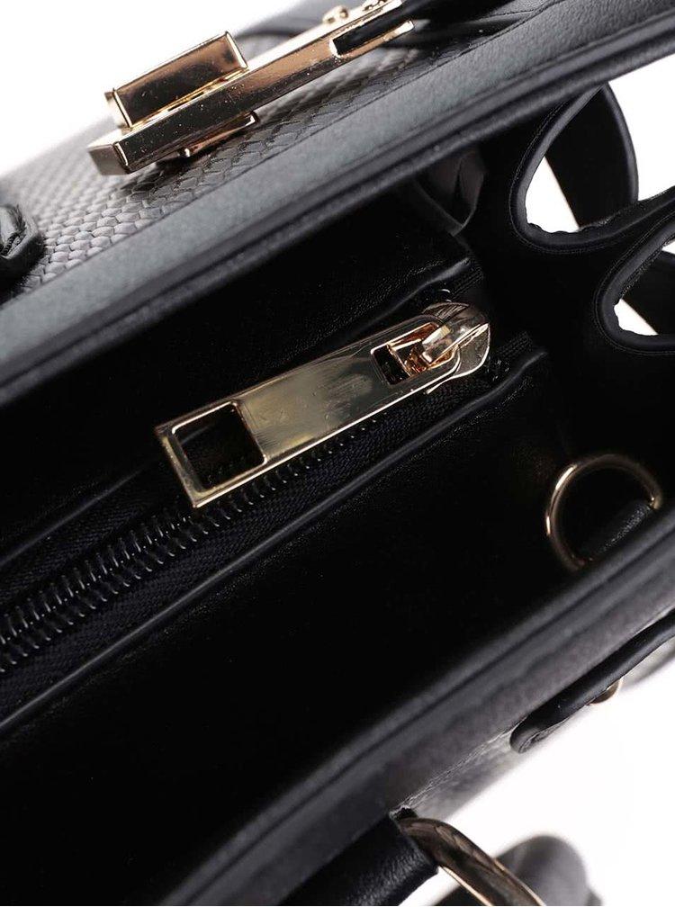 Černá kabelka s detaily ve zlaté barvě ALDO Gilliam