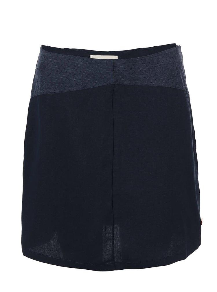 Tmavomodrá sukňa Skunkfunk Lauder