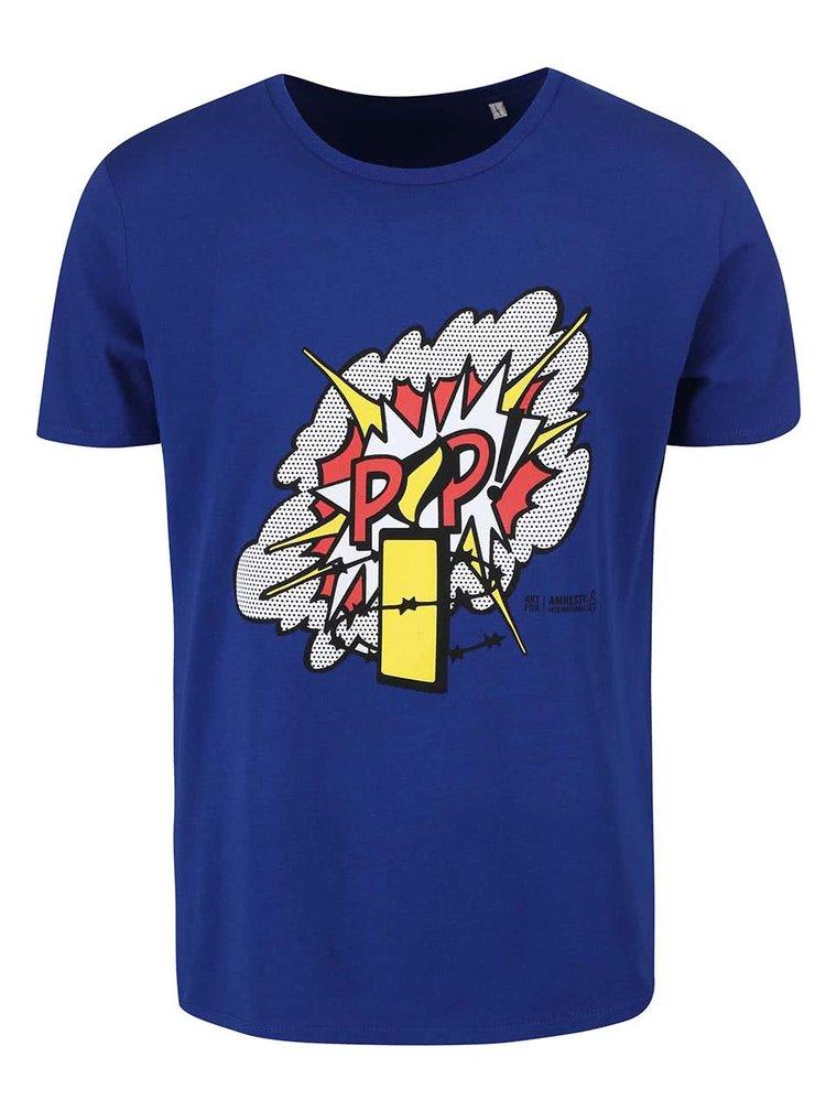 """""""Dobré"""" modré pánske tričko pre Amnesty International"""