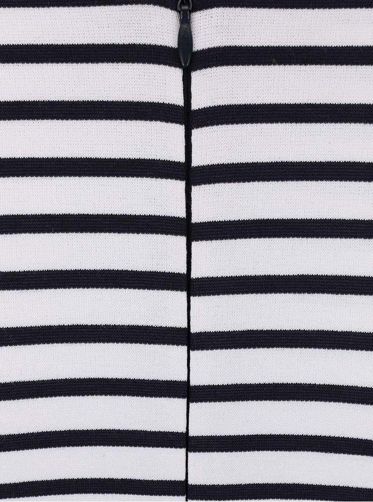 Černo-bílé pruhované šaty Alchymi Banded