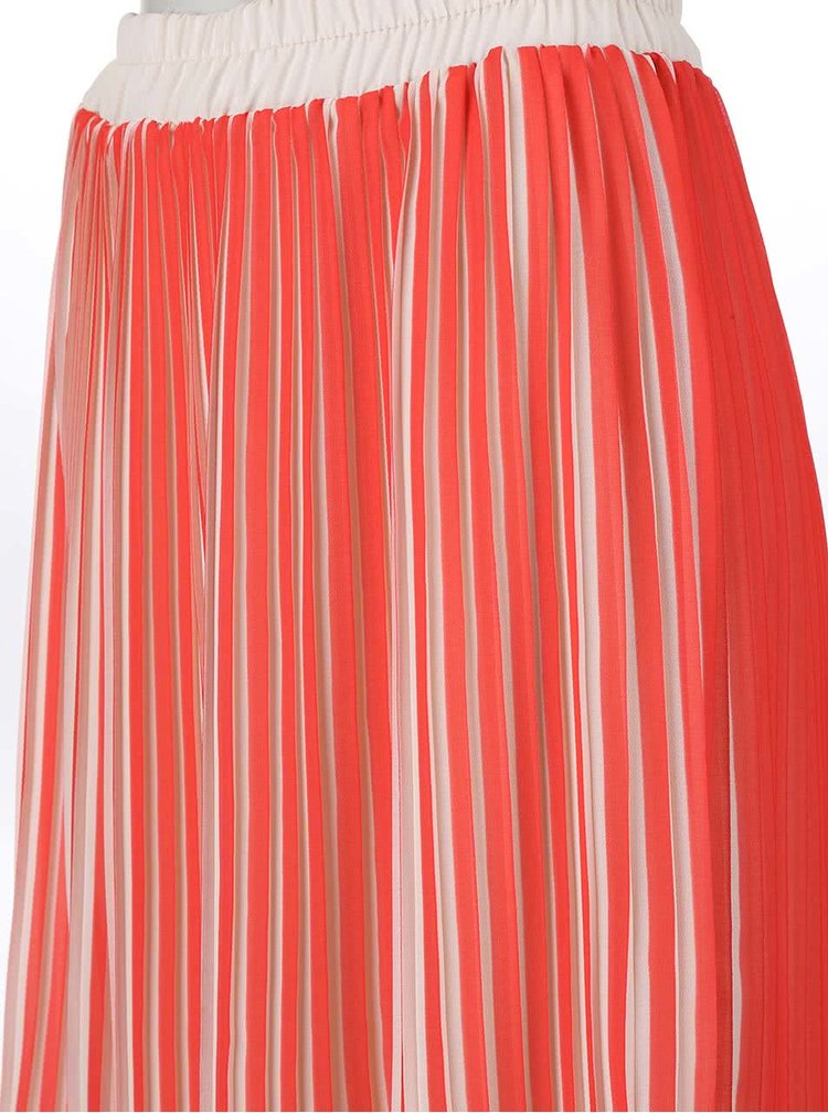 Krémovo-korálová plisovaná sukně Alchymi Sunstone