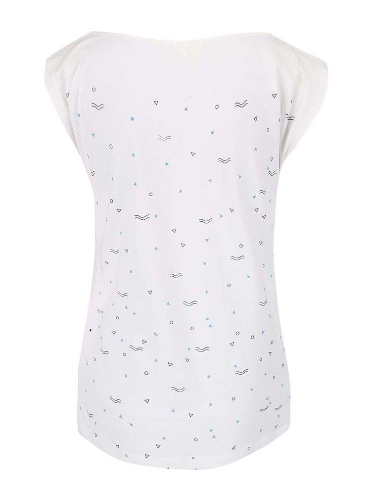 Krémové tričko s potiskem Skunkfunk Kyloe