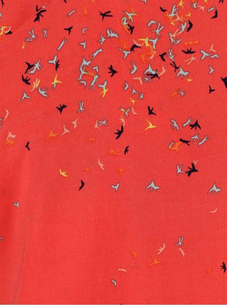 Korálové vzorované šaty Skunkfunk Pandy