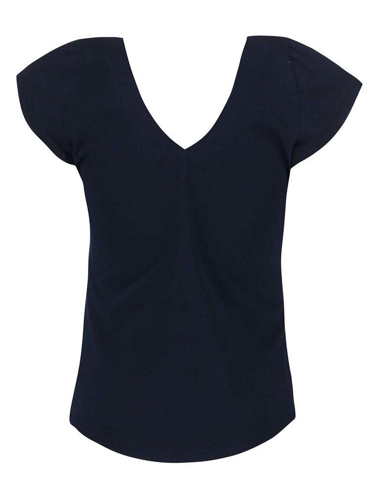 Tmavě modré kratší tričko Skunkfunk Gurtza