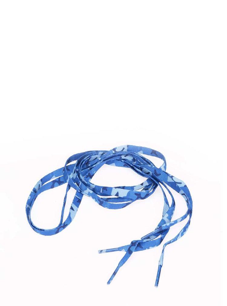 Modré maskáčované tkaničky Tubelaces (120 cm)