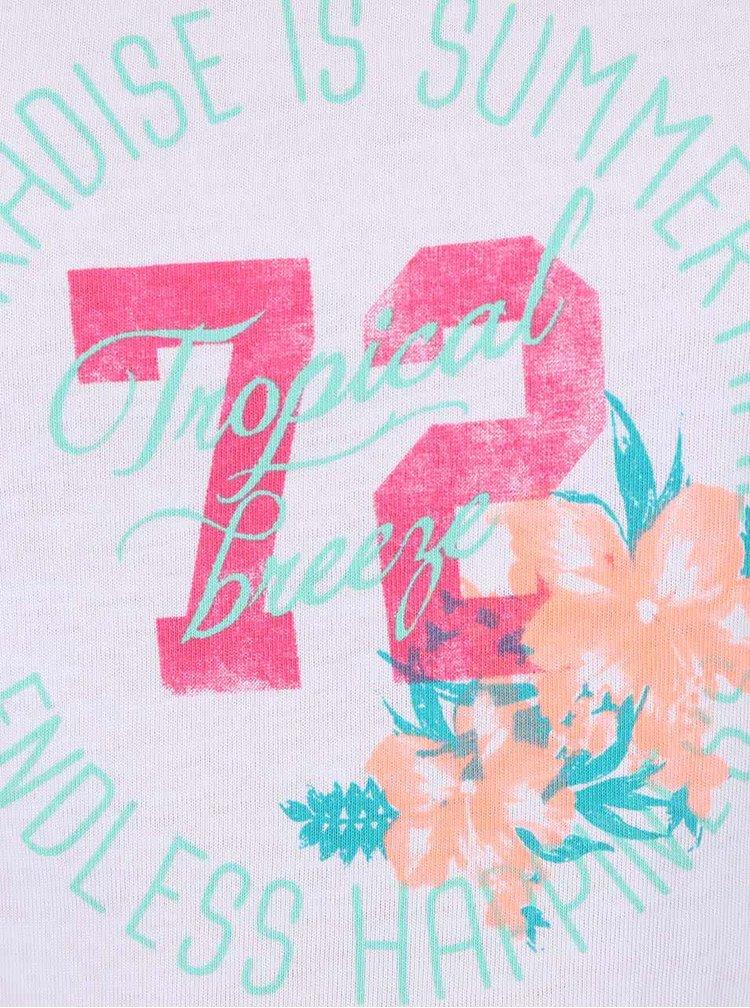Set bílého holčičího trička s kraťasy Blue Seven