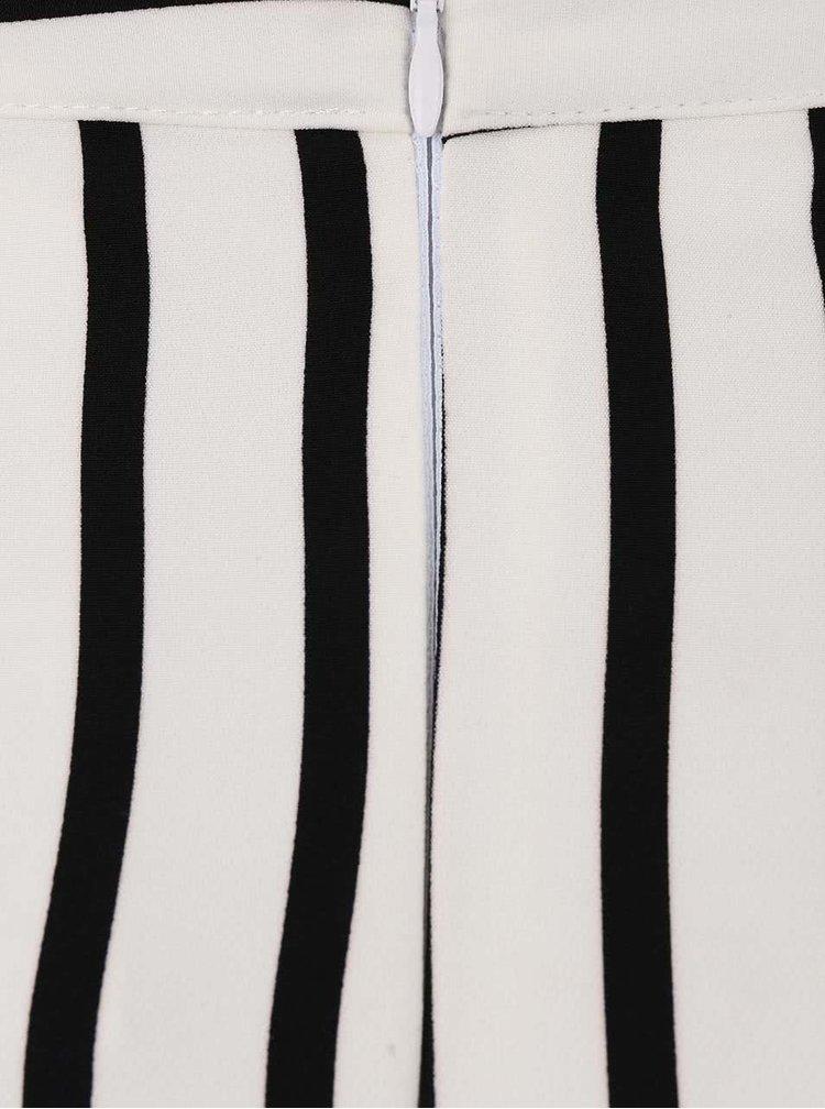 Černo-krémová pruhovaná sukně s rozparkem Alchymi Nova