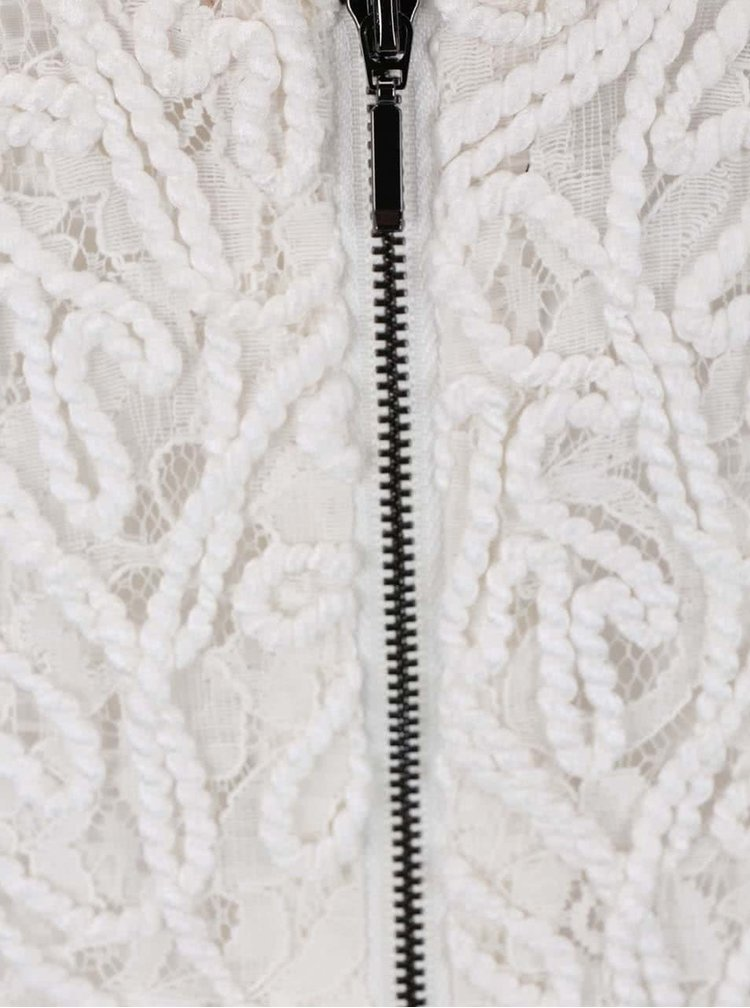 Krémové maxišaty s čipkovaným topom Lavand