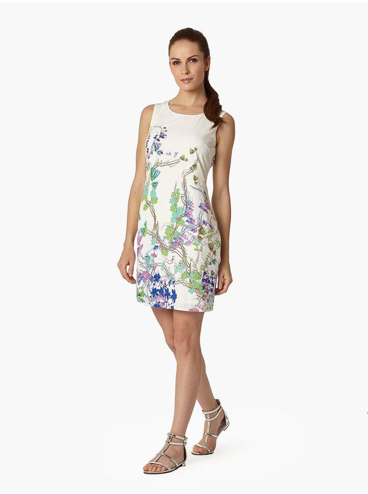 Krémové kvetinové šaty Lavand
