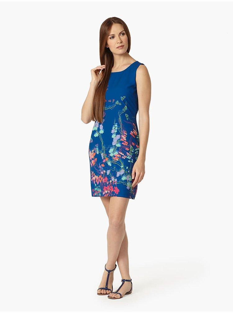 Modré květované šaty Lavand