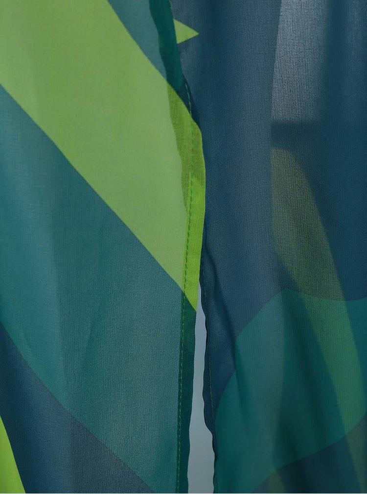 Zelené vzorované maxišaty Lavand