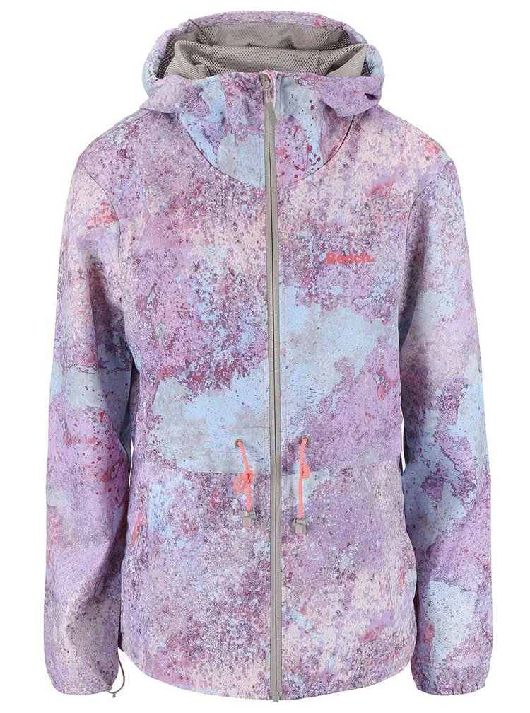 Dámska fialová bunda s kapucňou s potlačou Bench Profitability