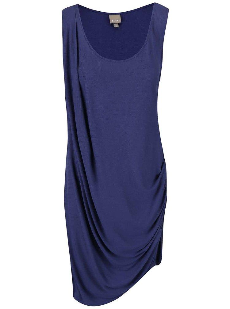 Tmavomodré nariasené šaty Bench Wrapandfold
