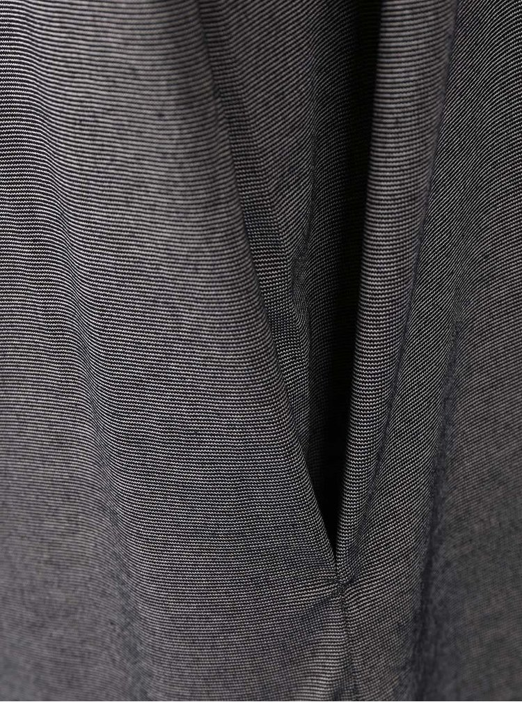 Tmavosivé voľnejšie šaty Bench Truism