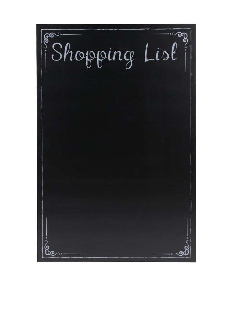 Čierna tabuľa na nákupný zoznam CGB