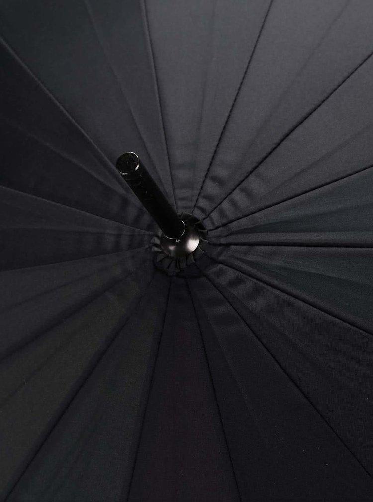 Černý deštník s duhovými detaily CGB