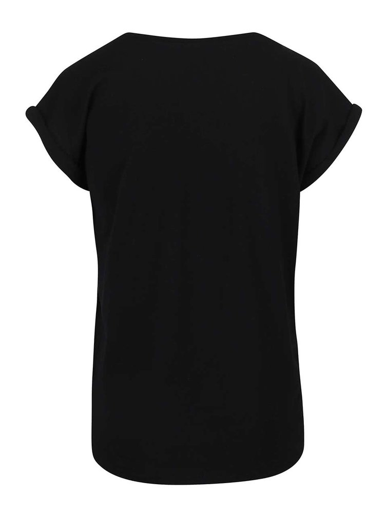 Černé tričko s potiskem Alchymi Opal