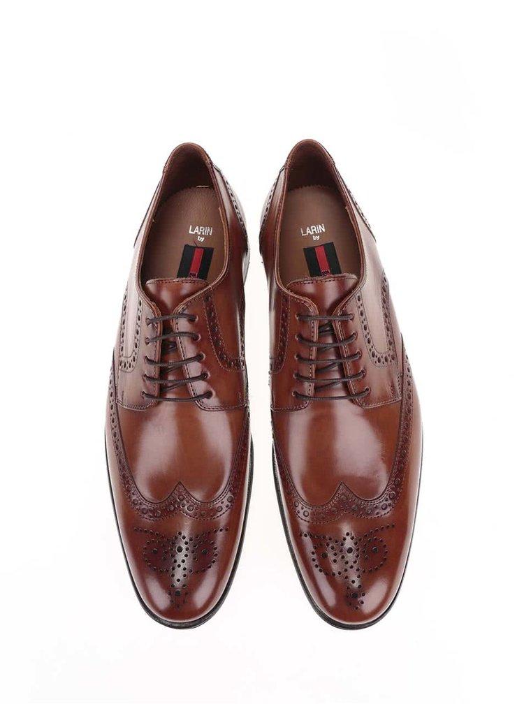 Pantofi oxford  Lloyd Larin pentru barbati maro din piele