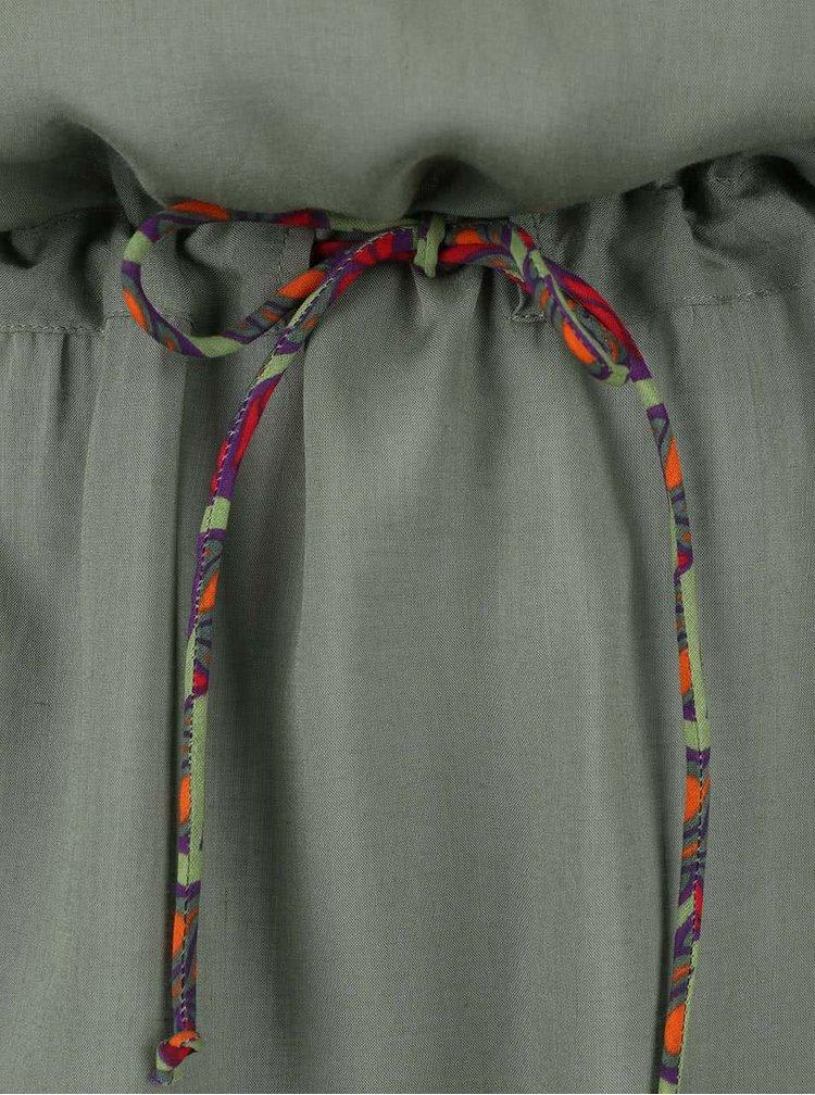 Kaki košeľové šaty Tranquillo Paloma