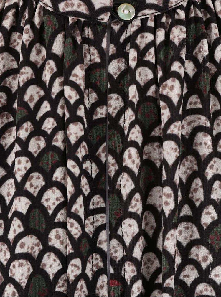 Béžové vzorované šaty Alchymi Atria