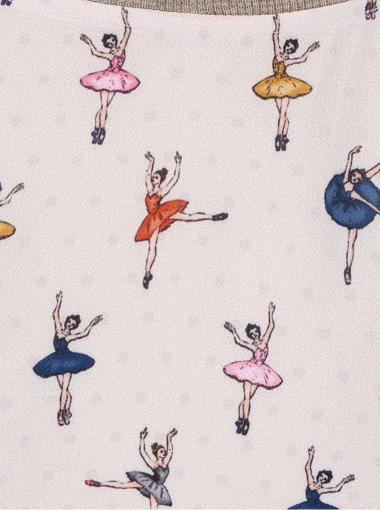 Světle béžová halenka se vzorem baletek Alchymi Berenice
