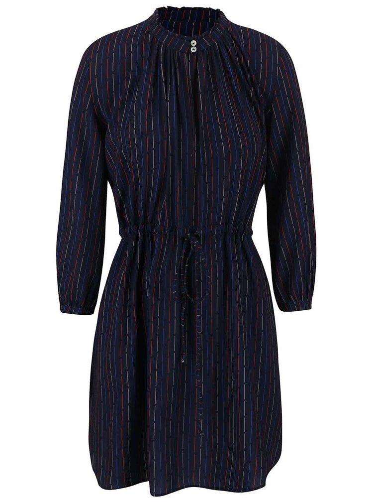 Tmavě modré vzorované šaty Alchymi Atria