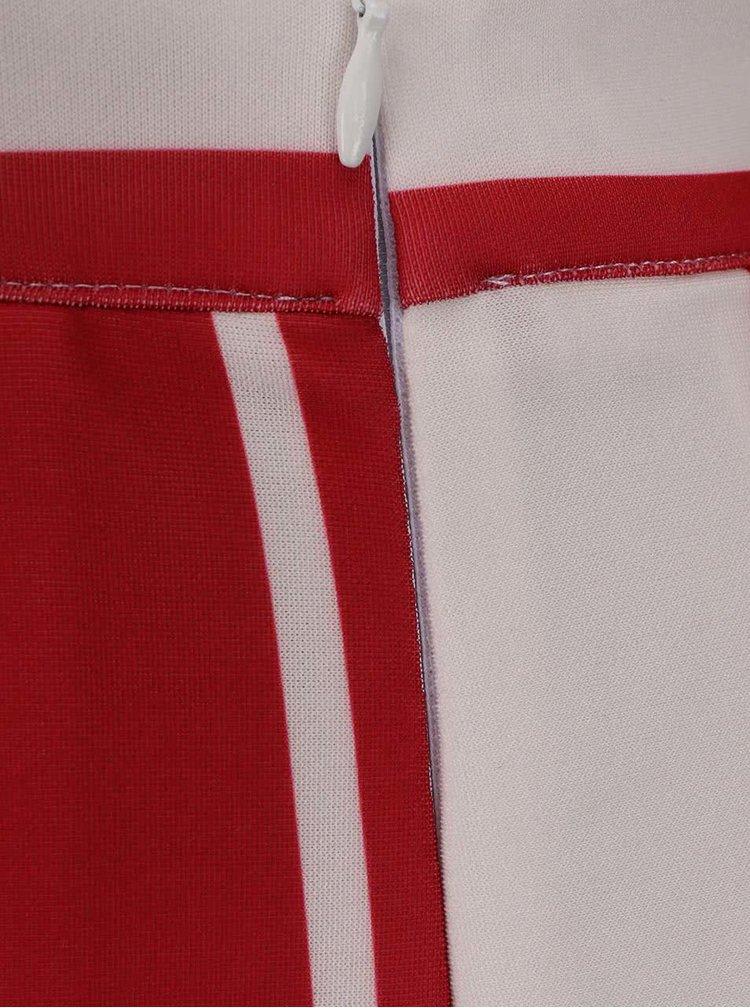Krémovo-červená sukně s pruhy Alchymi Persei