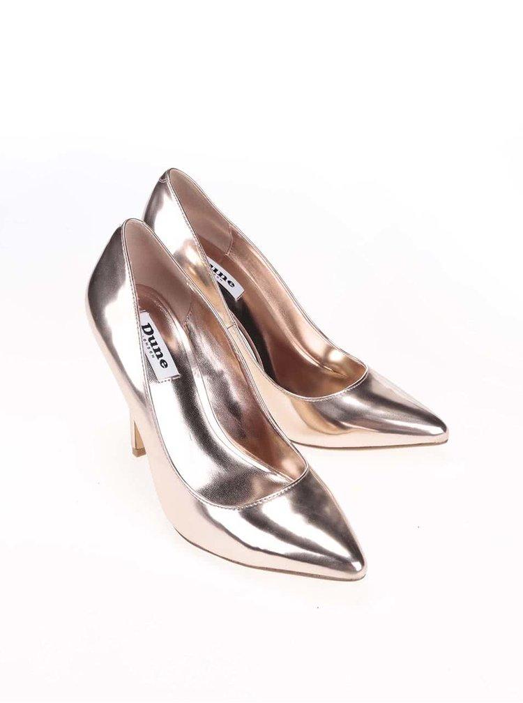 Pantofi cu toc Dune London Burst aurii
