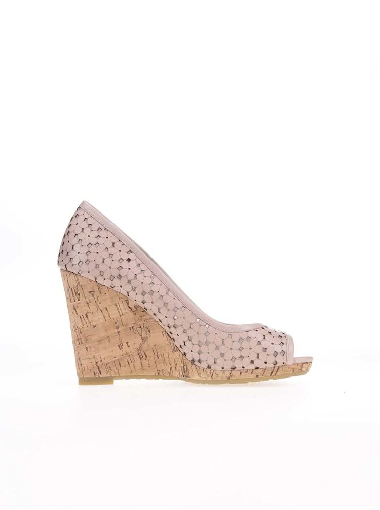 Pantofi cu toc Dune London Cassie roz din piele