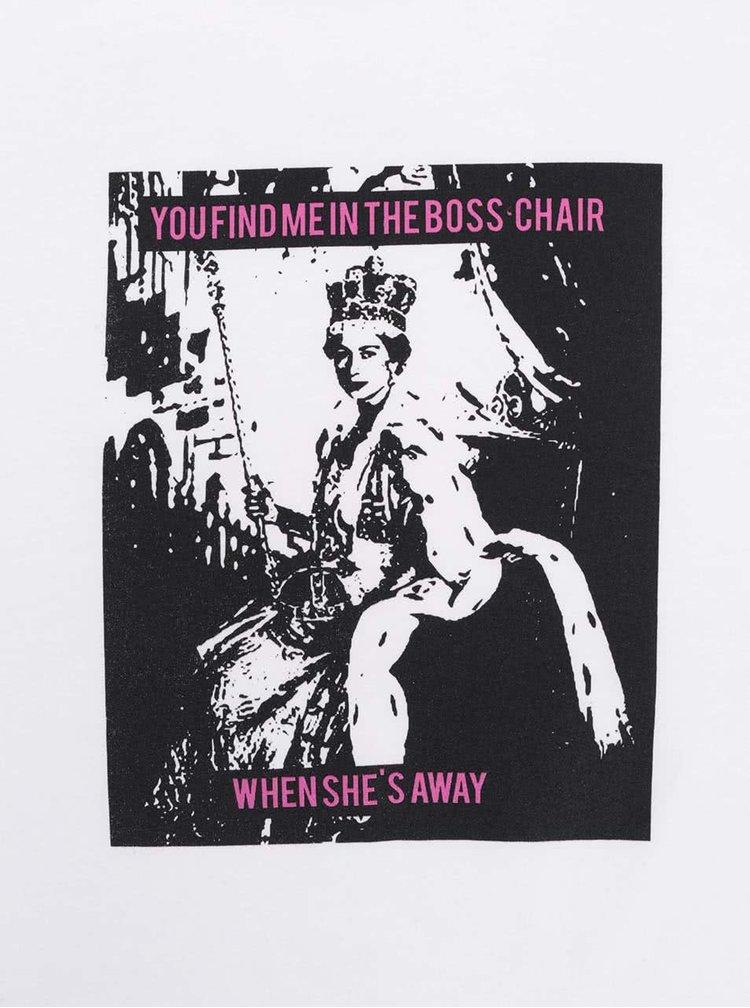 Bílé dámské tričko ZOOT Originál Boss Chair