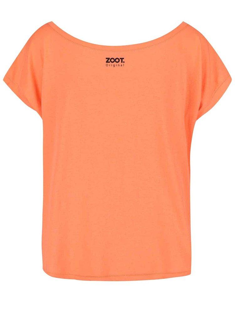 Koralové dámske voľnejšie tričko ZOOT Originál Fashion