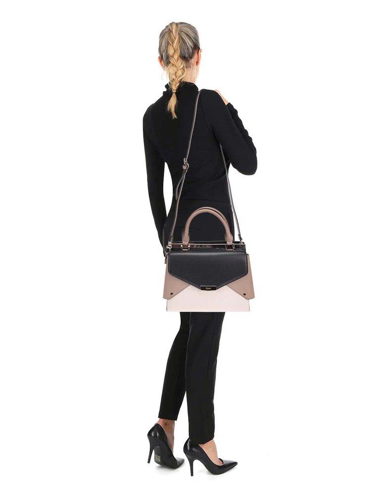 Černo-krémová kabelka do ruky Dune London Delaney