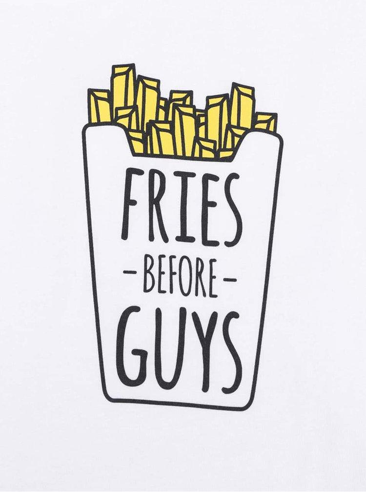 Bílé dámské volnější tričko ZOOT Originál Fries