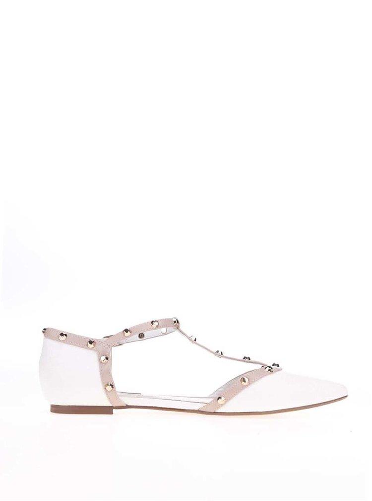 Biele sandálky Dune London Heti