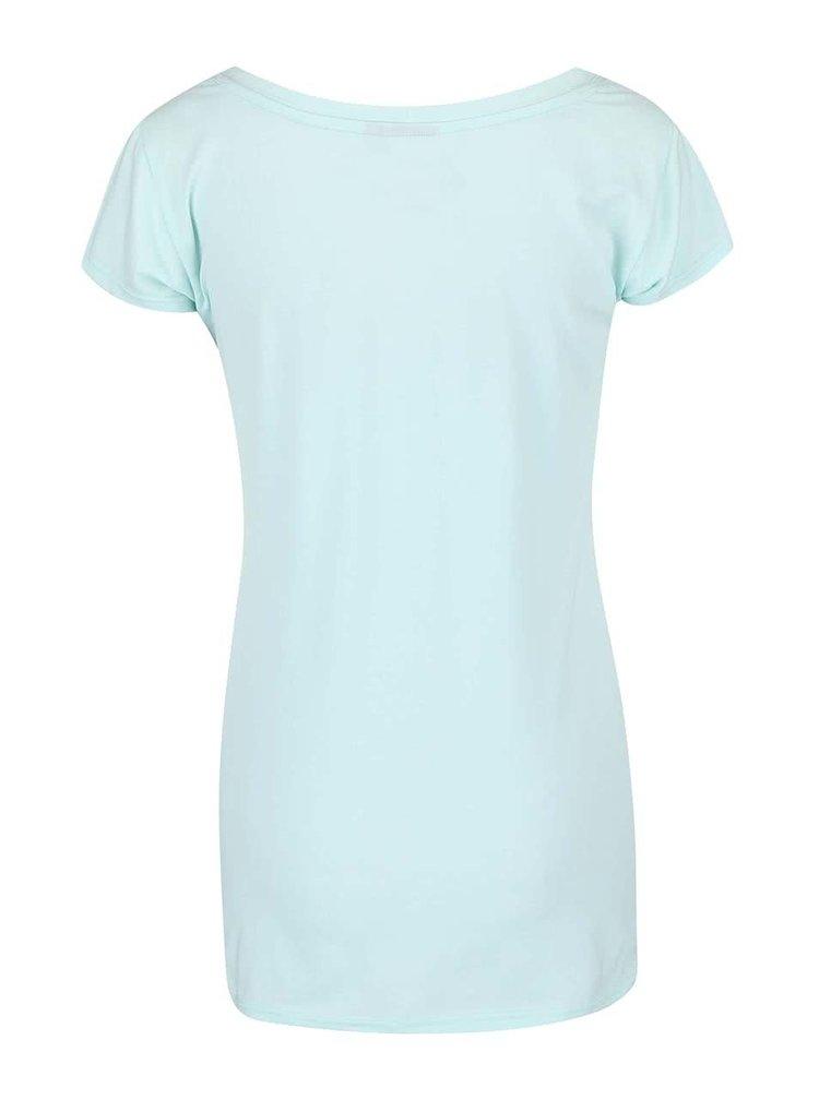 Mentolové dámské tričko s potiskem Funstorm Palagra