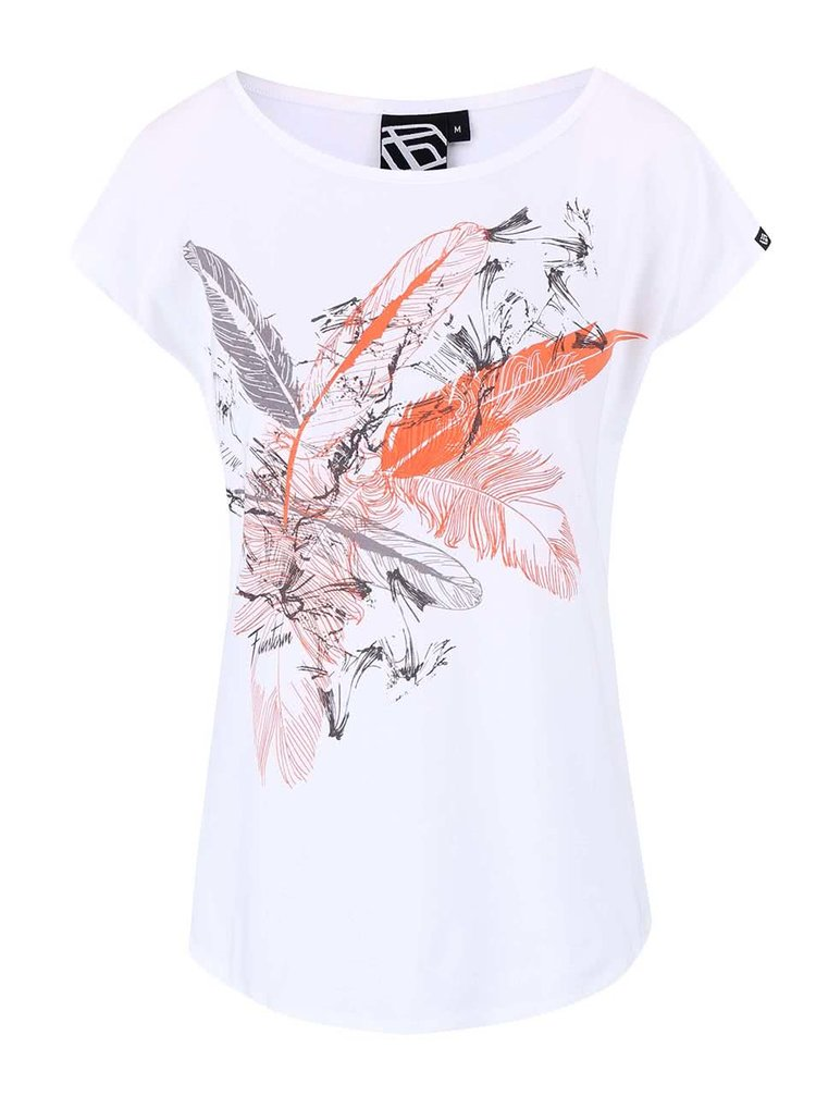 Bílé dámské oversize tričko s potiskem Funstorm Corte