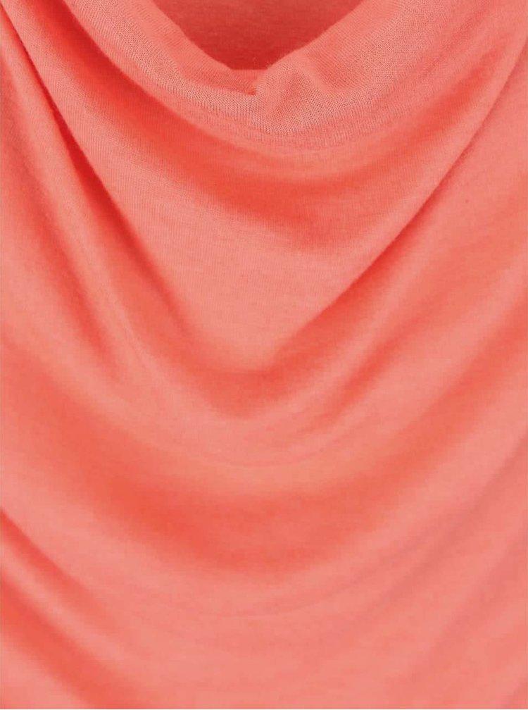 Korálový dámský top s prověšeným výstřihem Bench Duple