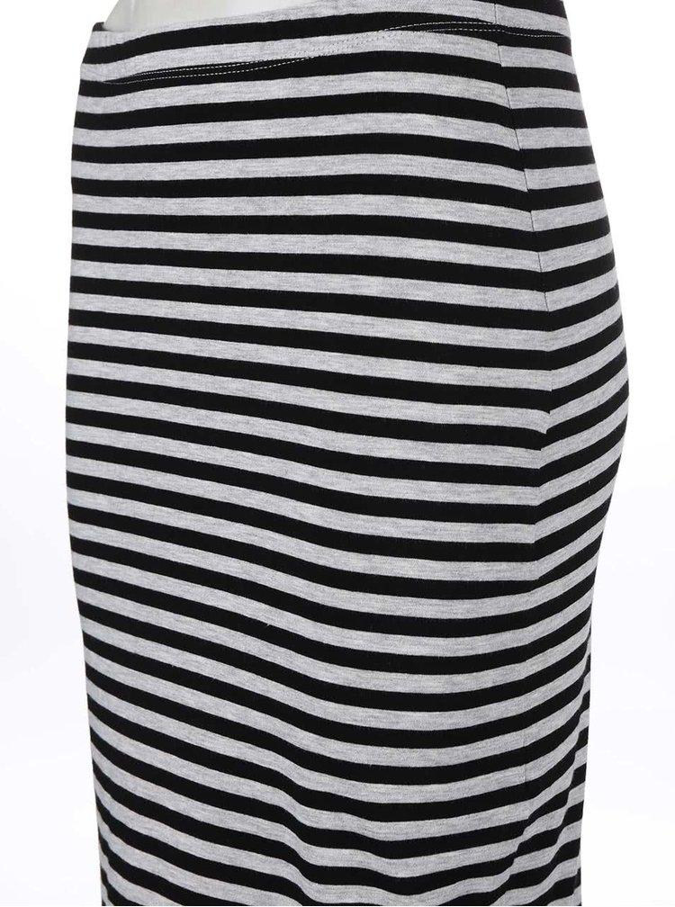 Šedo-černá pruhovaná sukně ONLY Abbie